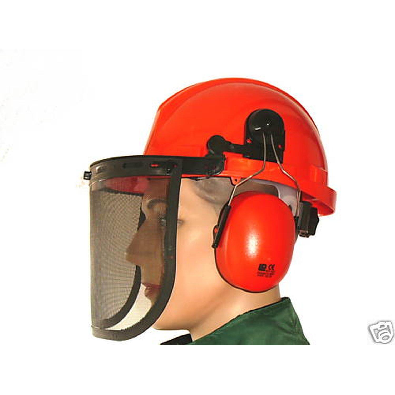 Gesichtsschutz Schutzhelm Forsthelm mit Kunstoffglas  Freischneider Motorsensen