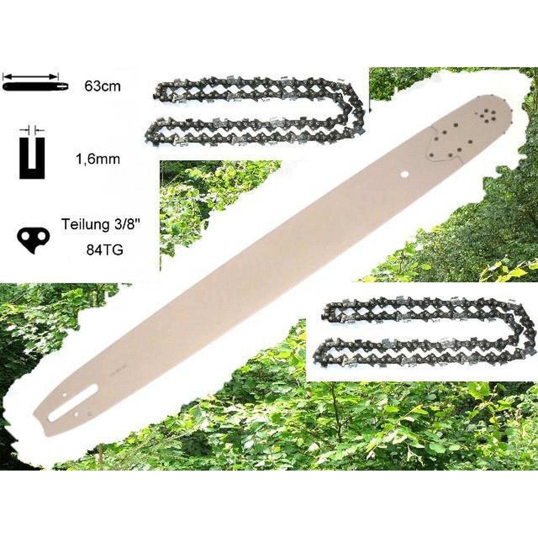 50cm 2 Ketten Schwert 3//8 passend Stihl 029 MS290 MS 290