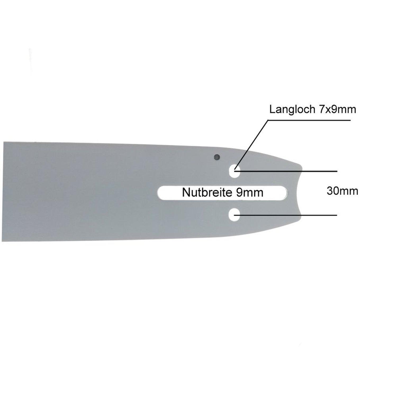 "1 Sägekette Vollmeißel passend Husqvarna 372-45cm 3//8/"" 68TG 1,5mm"
