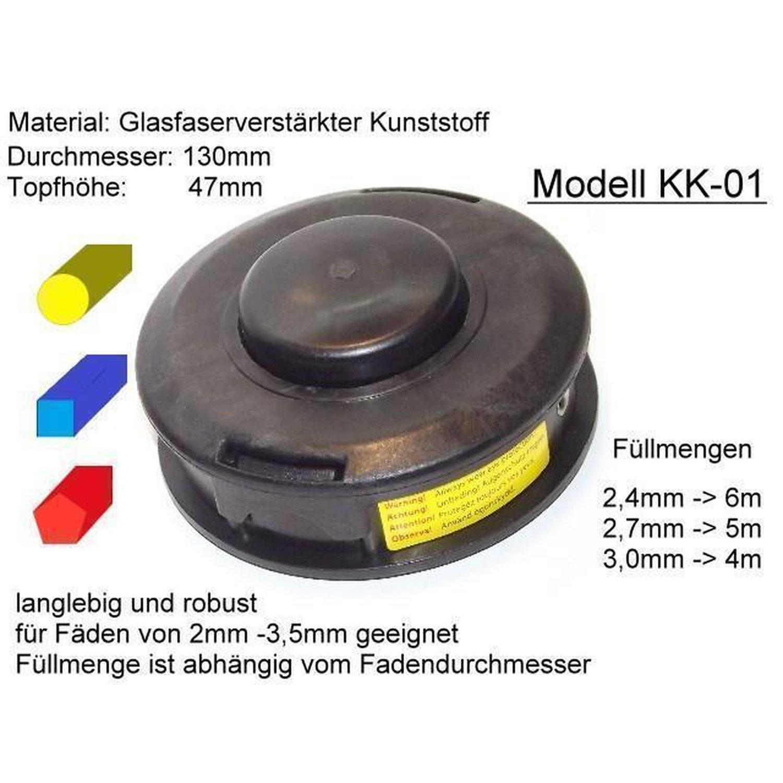 3STK Doppel Fadenkopf Fadenspule Spule Motorsense Mähkopf Ersatzspule für Trimme