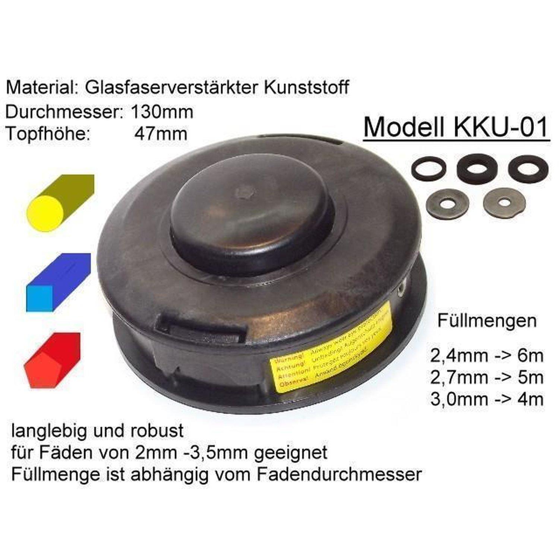 Mähkopf für Motorsense Freischneid Fadenkopf passend für Stihl FS 56 Universal