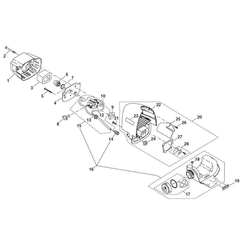 Papierdichtung Vergaserflansch Original Ersatzteil Dolmar Motortrimmer MS 30 U