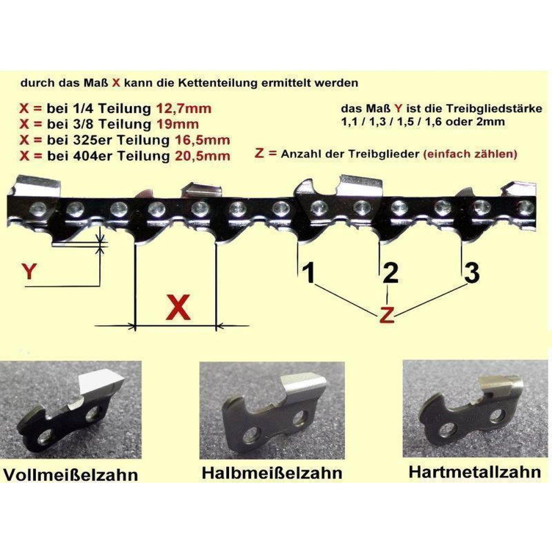 """6er Pack Dolmar kettenfeile 4,8 mm para cadena .325/"""" y 3//8/"""" halbmeißel"""
