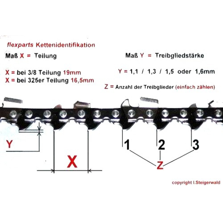 35cm 3//8 1,3 52 Stihl Sägekette Picco Kette für Dolmar Husqvarna Makita Bosch ua