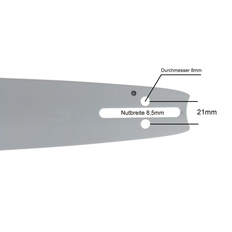 """38cm Schwert .325/"""" 2 Ketten 64TG 1,3mm für Husqvarna 435"""