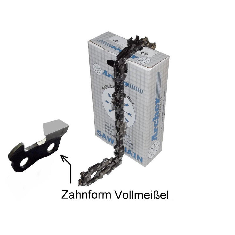 """Schwert 2 Ketten passend für Solo 662 45 cm 3//8/"""" 68 TG 1,5 mm Sägekette chain"""